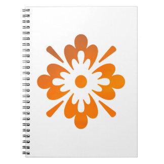 Floral Sunset Orange Sky Abstract Spiral Notebook