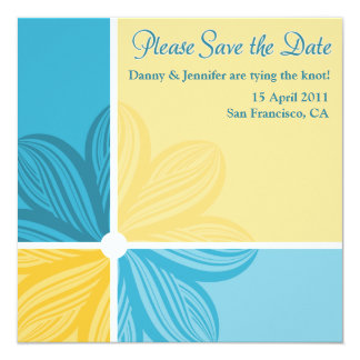 Floral Sweep Please Save the Date Invite