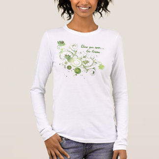 Floral Swirl Abstract Go Green Earth Day Long Sleeve T-Shirt