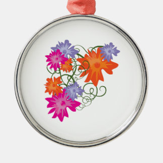 Floral Swirl Ornaments