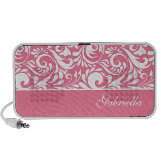 Floral Swirl Doodle Custom Speakers Personalized