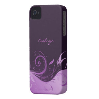 Floral Swirl iPhone 4/4S Case-Mate Barely There