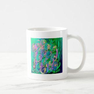 Floral swirl kaleidoscope design image coffee mugs
