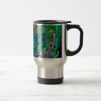 Floral swirl kaleidoscope design image mug