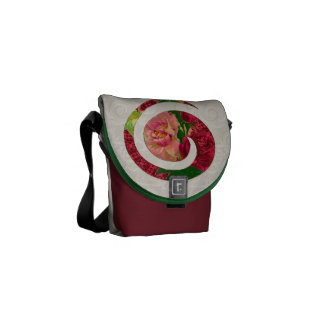 Floral Swirl Motif Messenger Bag