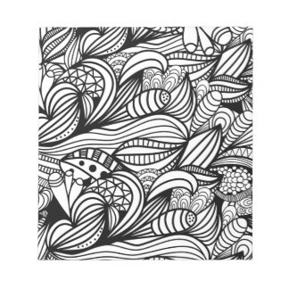 Floral Swirl Notepad