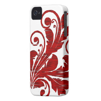 Floral Swirl ~ Red iPhone 4 Case-Mate Case