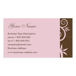 Floral Swirls Business Card
