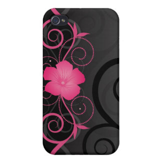 Floral Swirls i iPhone 4 Cases