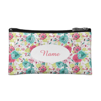 Floral Tapestry Look Personalized Clutch Makeup Bags