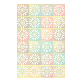 Floral tessellation personalized stationery