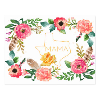 Floral Texas Mom Postcard