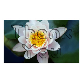 Floral Thank You Business Card