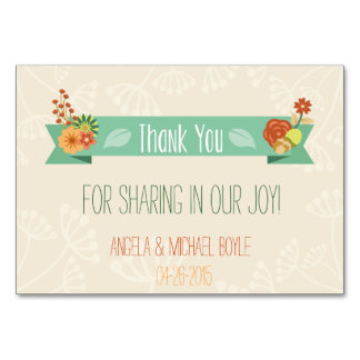 Floral thank you card (Wedding)