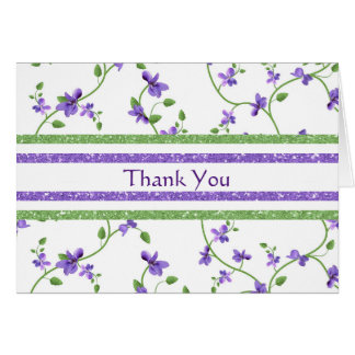 Floral Thank You card with violets