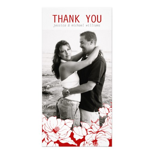 Floral Thank You Photo Card