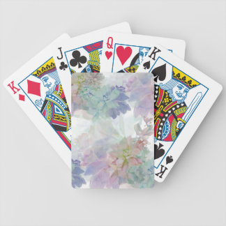 Floral themed playing cards