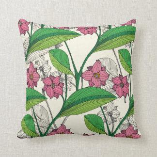 Floral Throw Cushion 41 x 41 cm / Zahra Collection