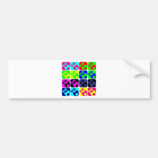 Floral Tiles Bumper Sticker