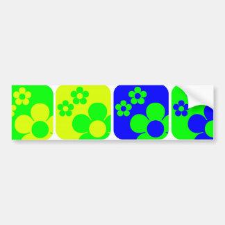 Floral Tiles Car Bumper Sticker