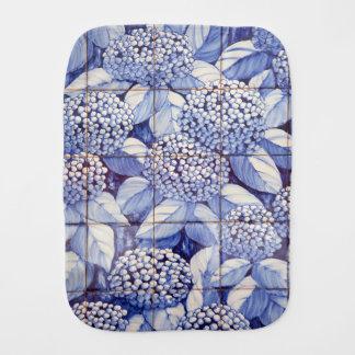 Floral tiles burp cloth
