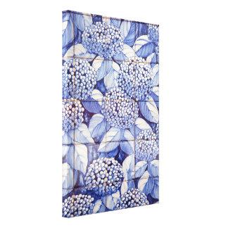 Floral tiles canvas print