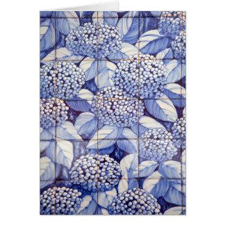 Floral tiles card
