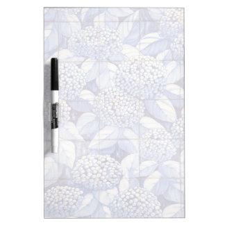 Floral tiles dry erase board
