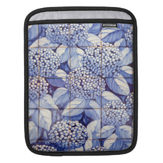 Floral tiles iPad sleeves