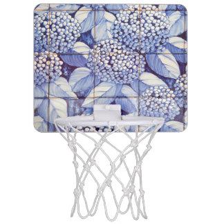 Floral tiles mini basketball hoop