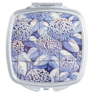 Floral tiles mirrors for makeup