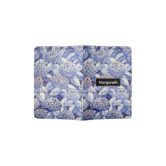 Floral tiles passport holder