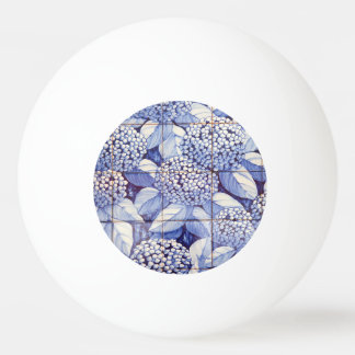 Floral tiles ping pong ball