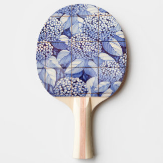 Floral tiles ping pong paddle