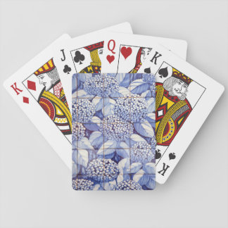 Floral tiles playing cards