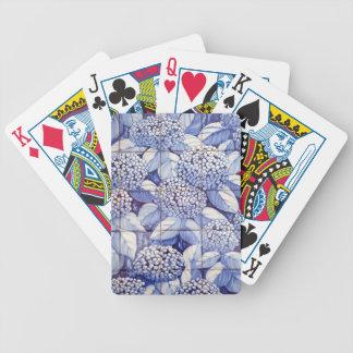 Floral tiles poker deck
