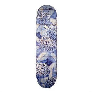 Floral tiles skateboard deck