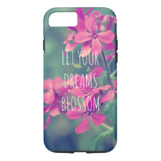 Floral Tiny Pink Flower Blooms Green Flora iPhone 8/7 Case