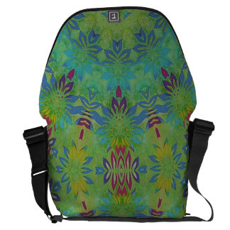 floral treasure abstract courier bag