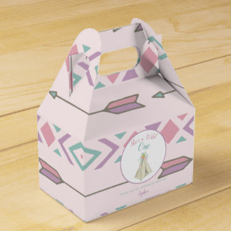 Floral Tribal Teepee Wild One 1st Birthday Favour Box