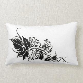 floral tribal vine tattoo throw pillows