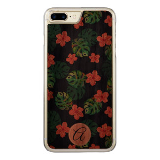 Floral tropical Beautiful design. Carved iPhone 8 Plus/7 Plus Case