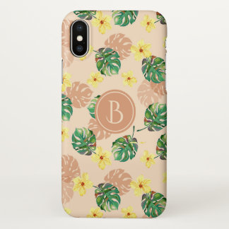 Floral tropical Beautiful design. iPhone X Case