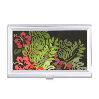 Floral Tropical Graphic Design Flower Card Holder