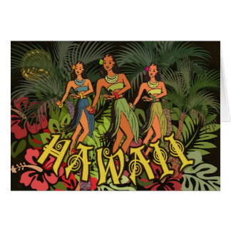 Floral Tropical Hawaii Art Print Bold Blank Card