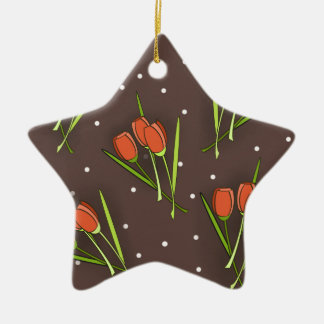 Floral Tulip Design Christmas Tree Ornaments