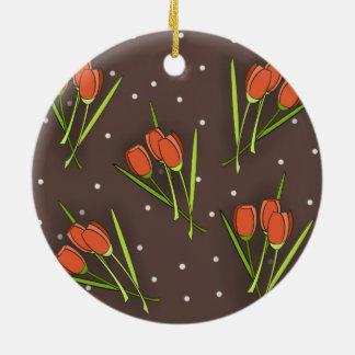 Floral Tulip Design Ornament