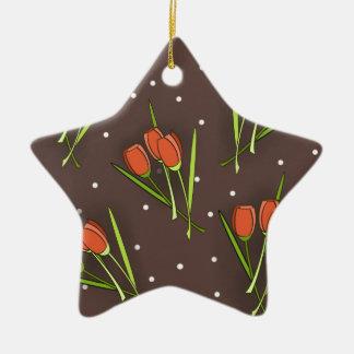 Floral Tulip Design Christmas Tree Ornaments