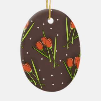 Floral Tulip Design Christmas Ornament