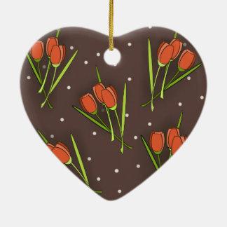 Floral Tulip Design Christmas Tree Ornament